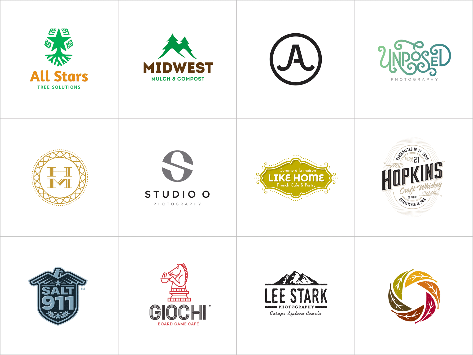 St. Louis award winning logos in LogoLounge 10