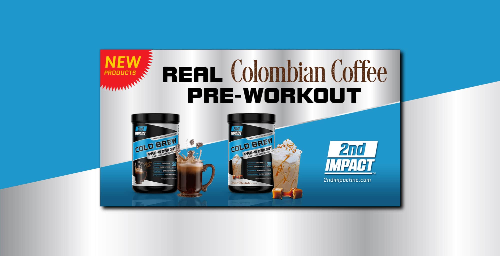 2nd Impact Coffee Pre Workout Facebook Ad