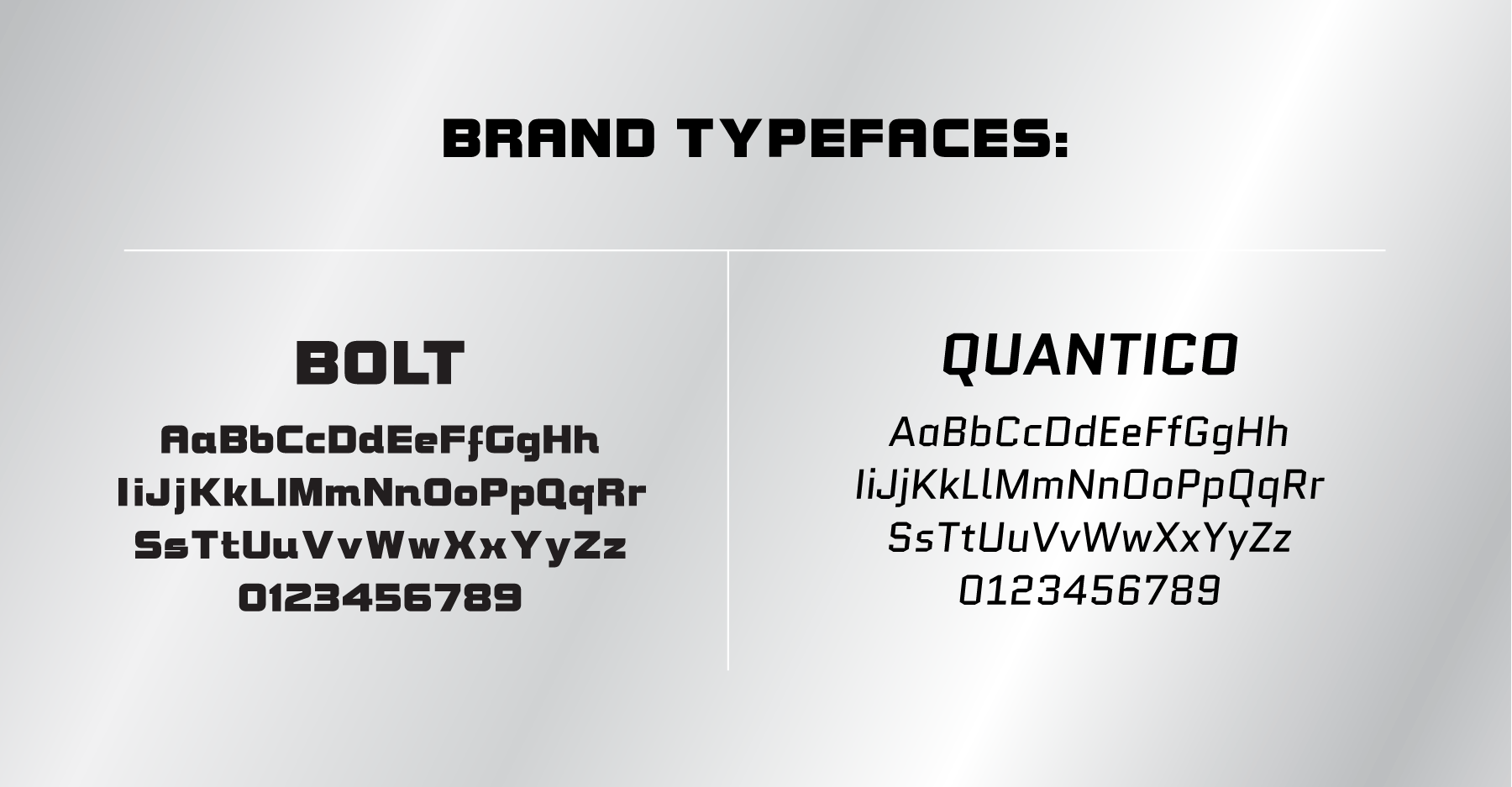 2nd Impact Brand Typefaces
