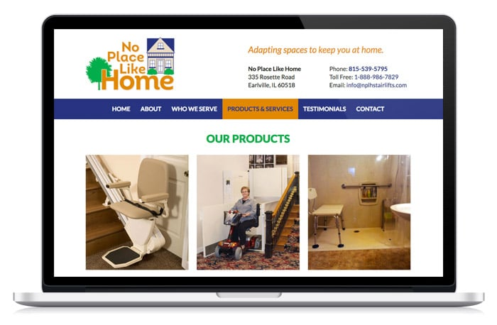 No Place Like Home products webpage