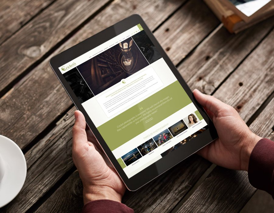 Cricket's Photography WordPress Web Design