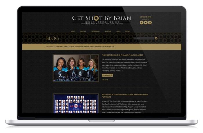 Get Shot by Brian Web Design blog