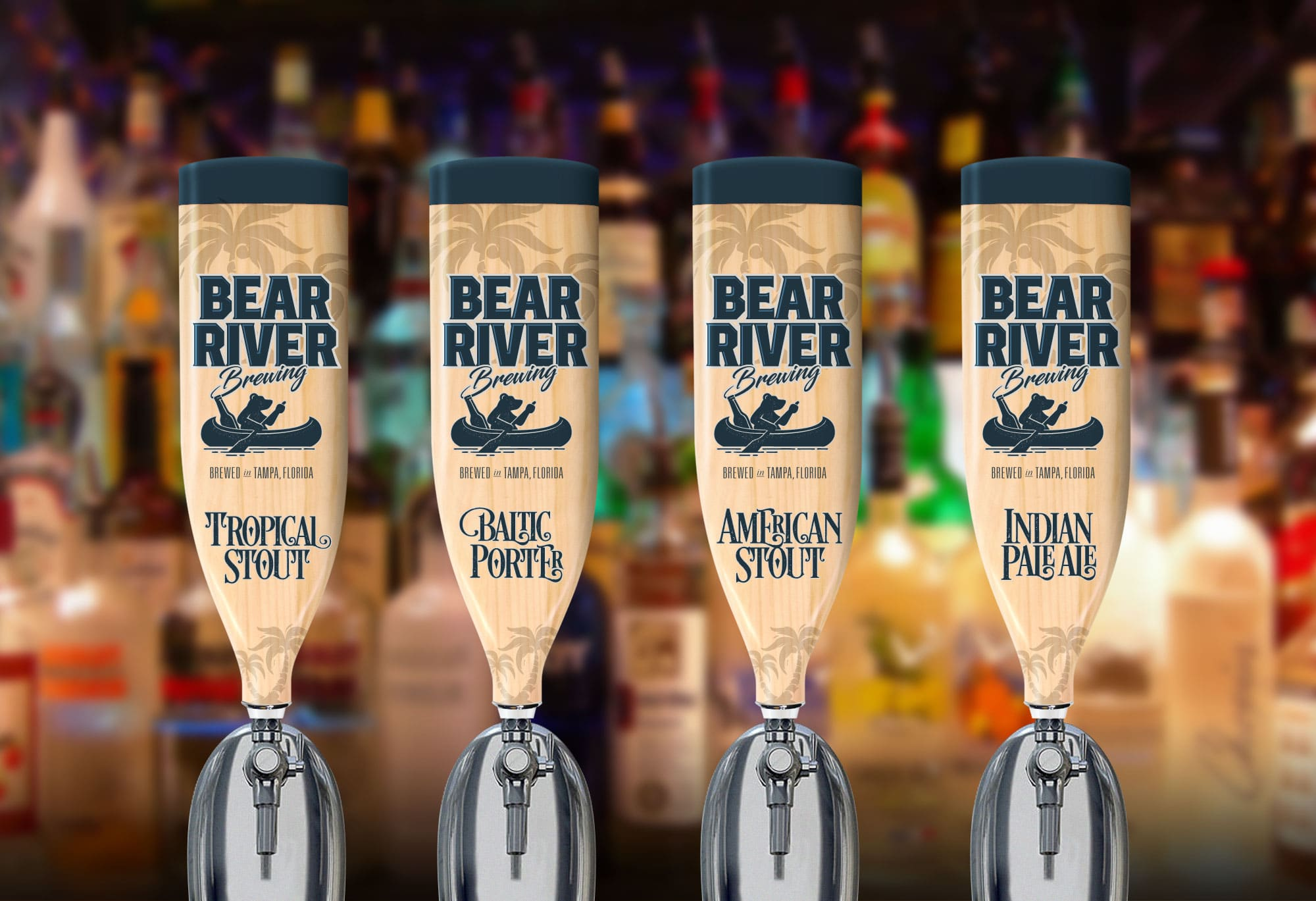 Bear River Brewing branded beer taps