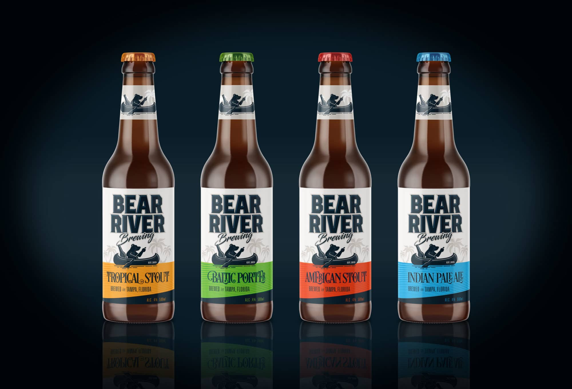 Bear River Brewing beer bottle label design