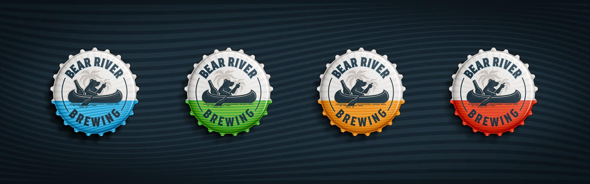 Bear River Brewing beer cap designs