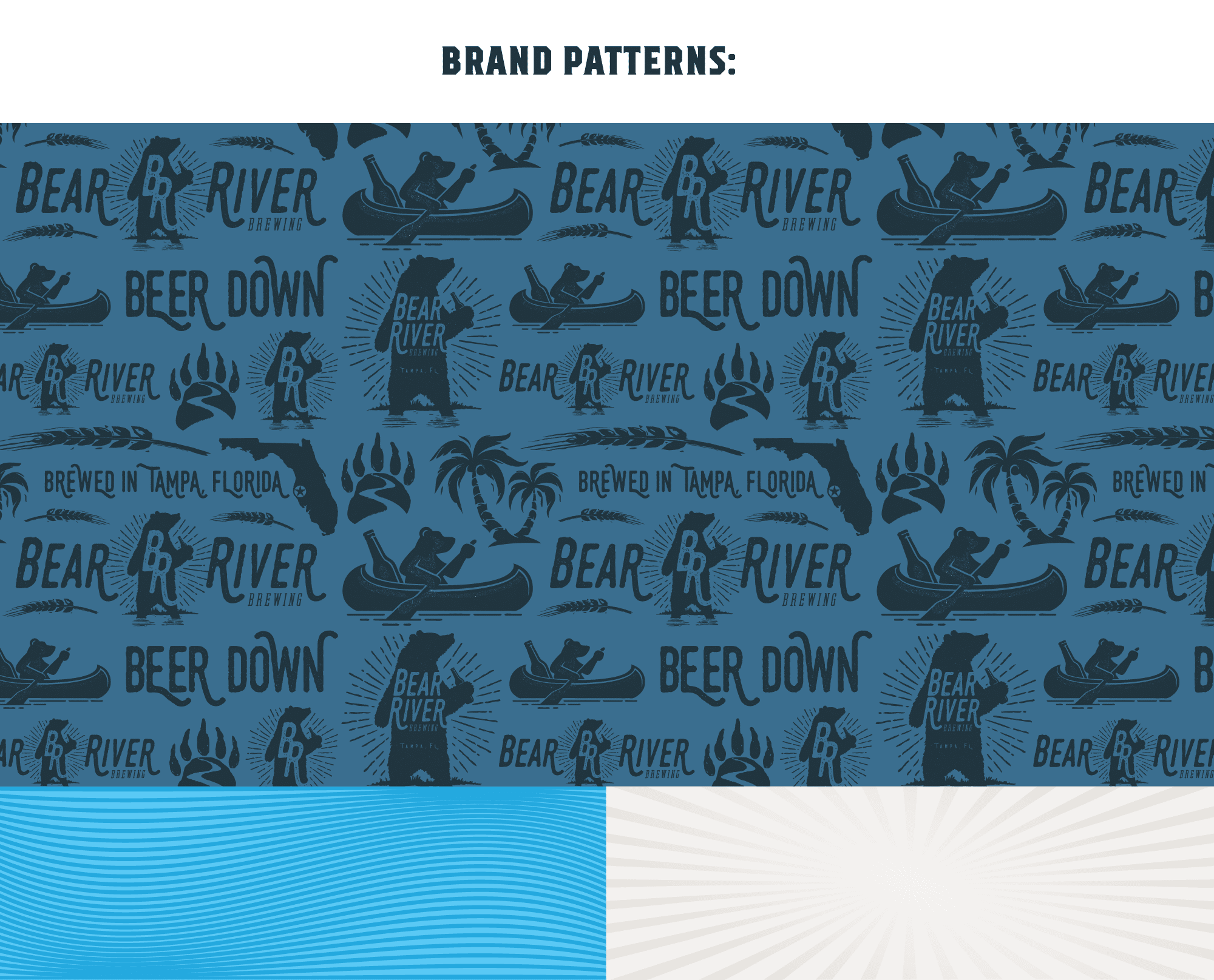 Bear River Brewing brand patterns
