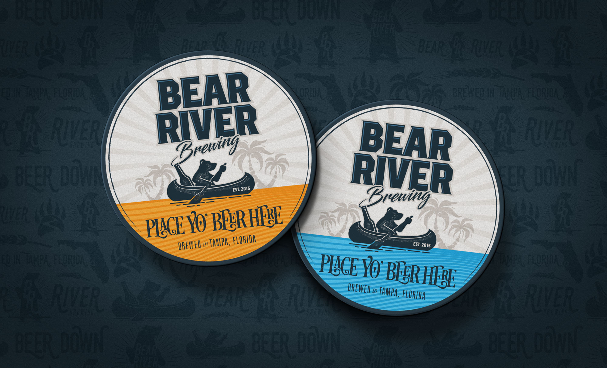 Bear River Brewing beer coasters design