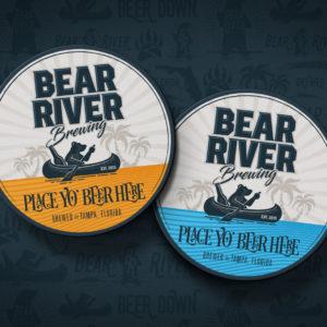 Bear River Brewing coasters