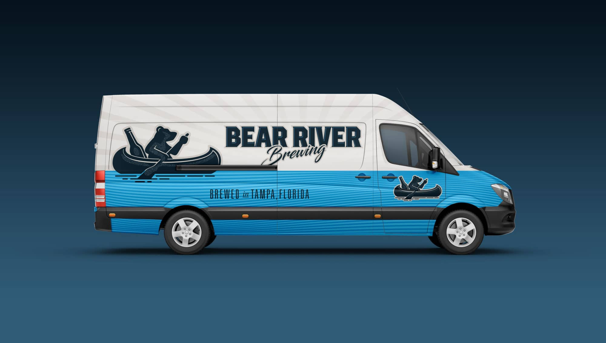 Bear River Brewing Van Wrap Design