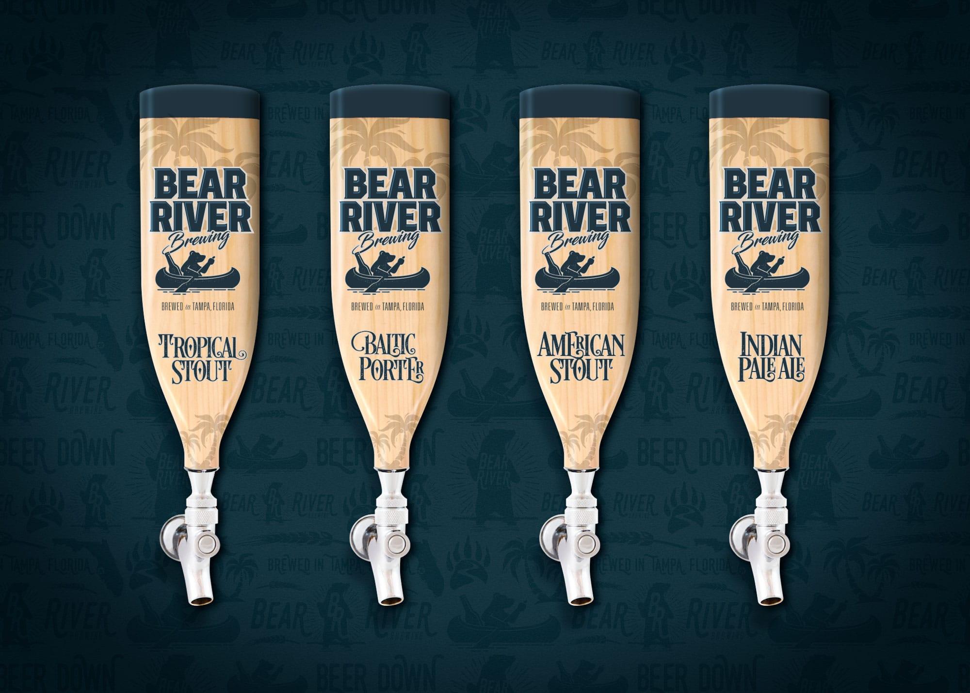 Bear River Brewing branded beer taps