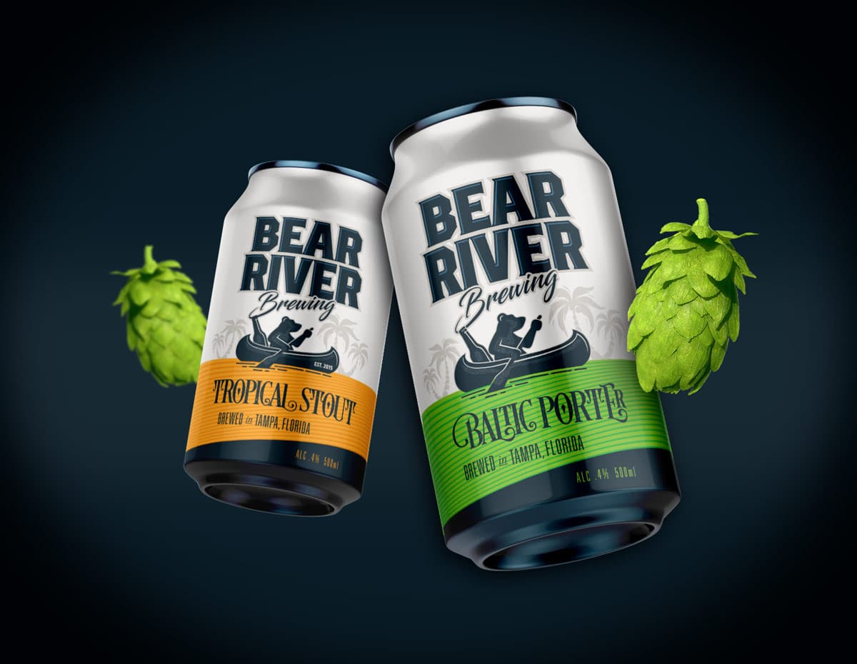 Bear River Brewing beer can package design 2
