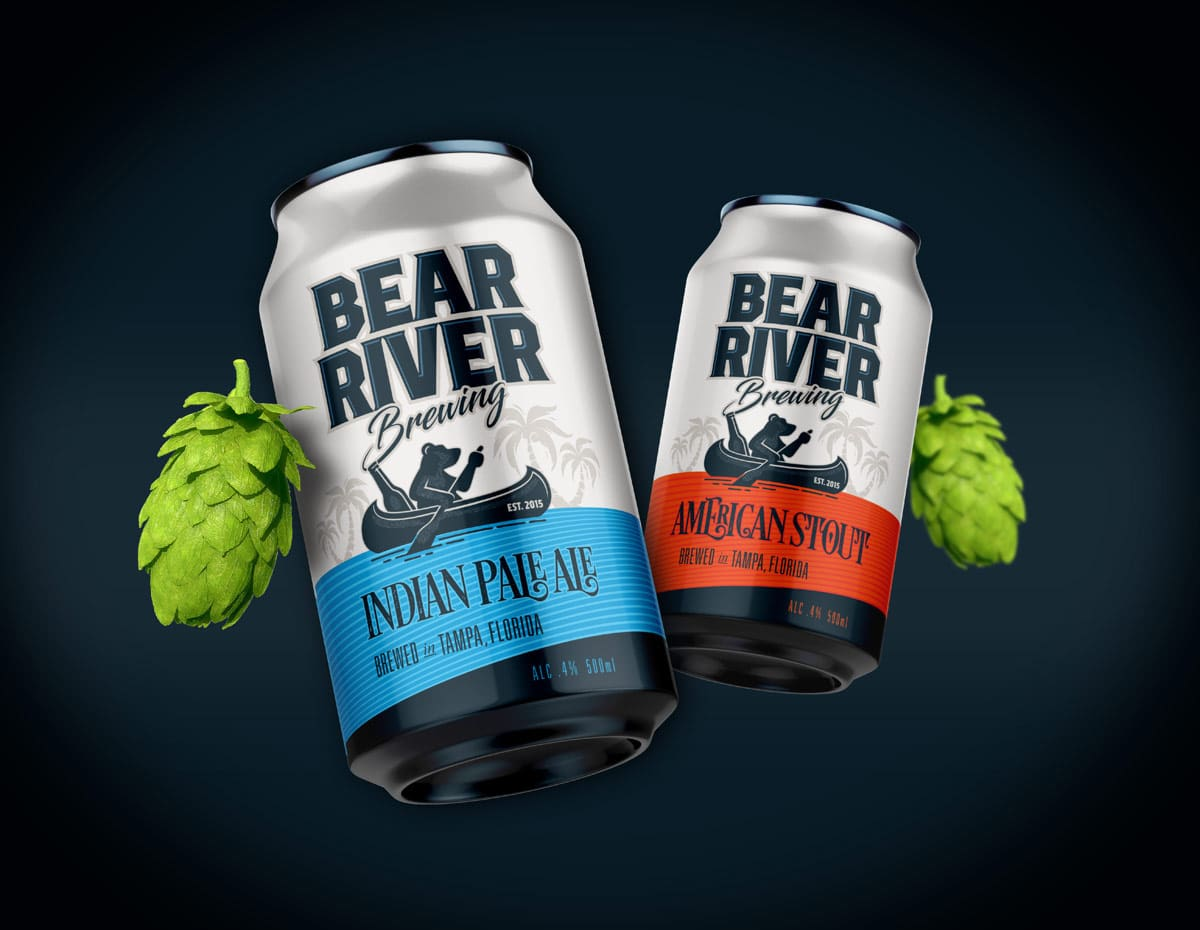 Bear River Brewing beer can package design 1