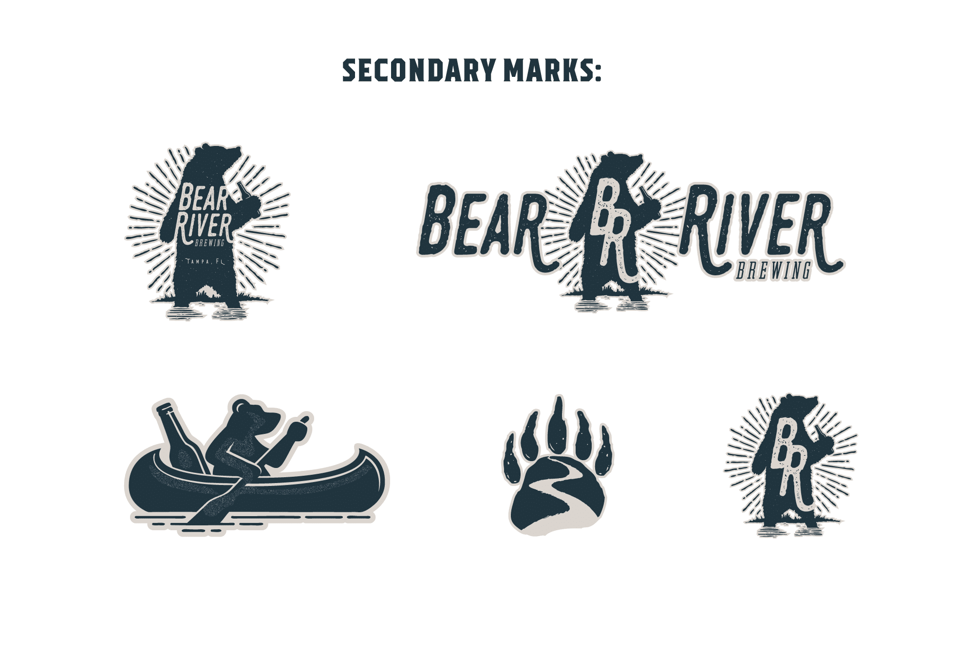 Bear River Brewing secondary logo marks