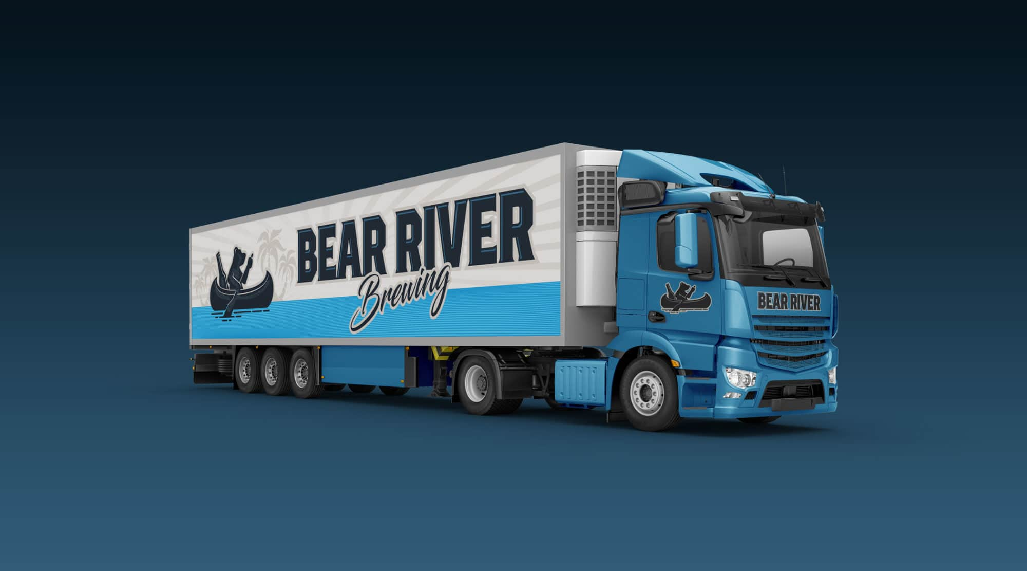 Bear River semi vehicle wrap design