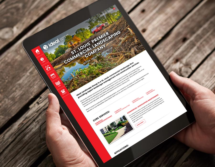 Ideal Landscape Group WordPress Web Design