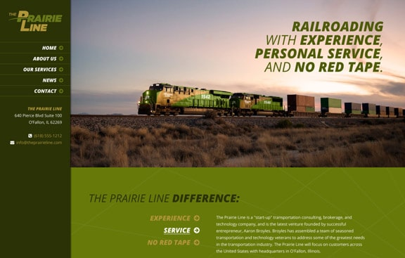 The Prairie Line WordPress site