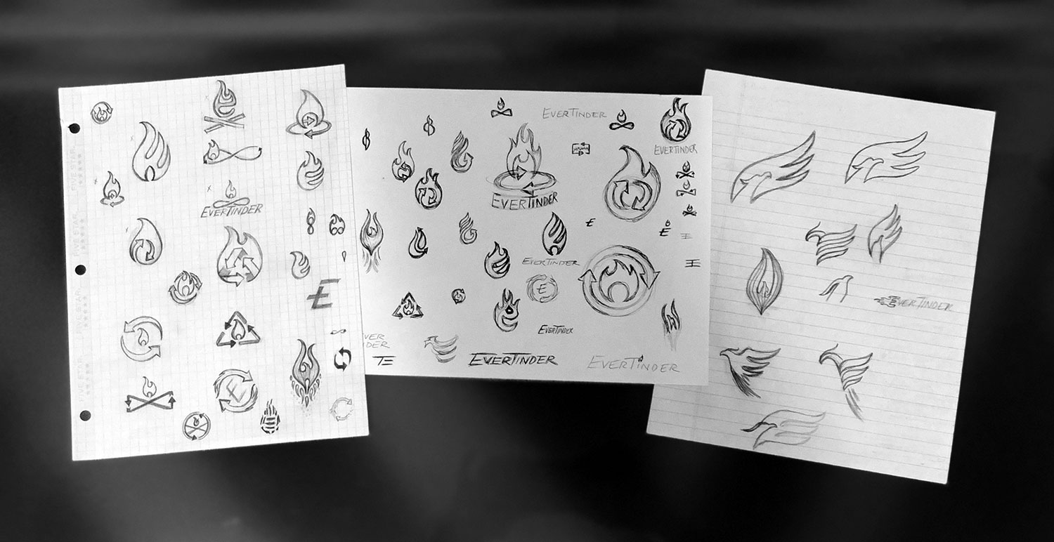 EverTinder logo sketches