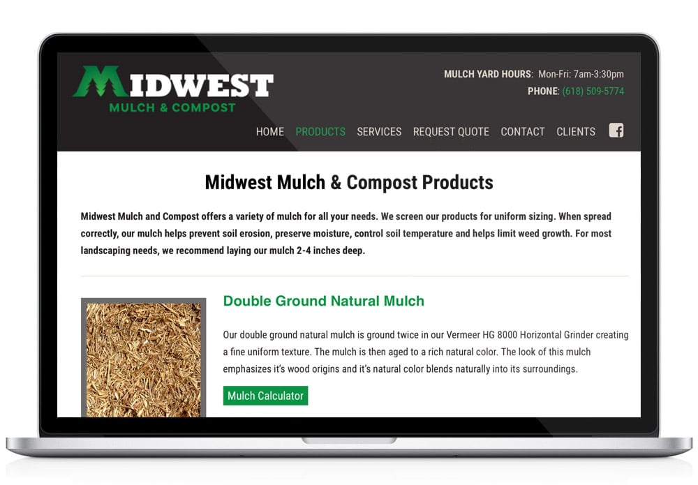 Midwest Mulch WordPress web design