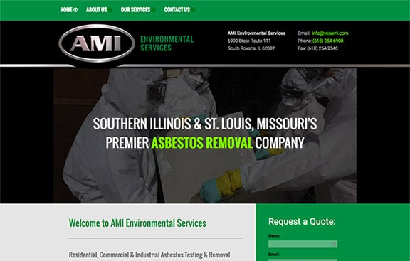 ami website design