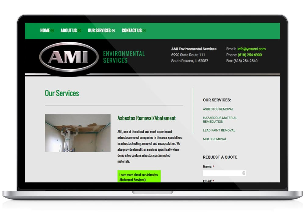 AMI web design laptop