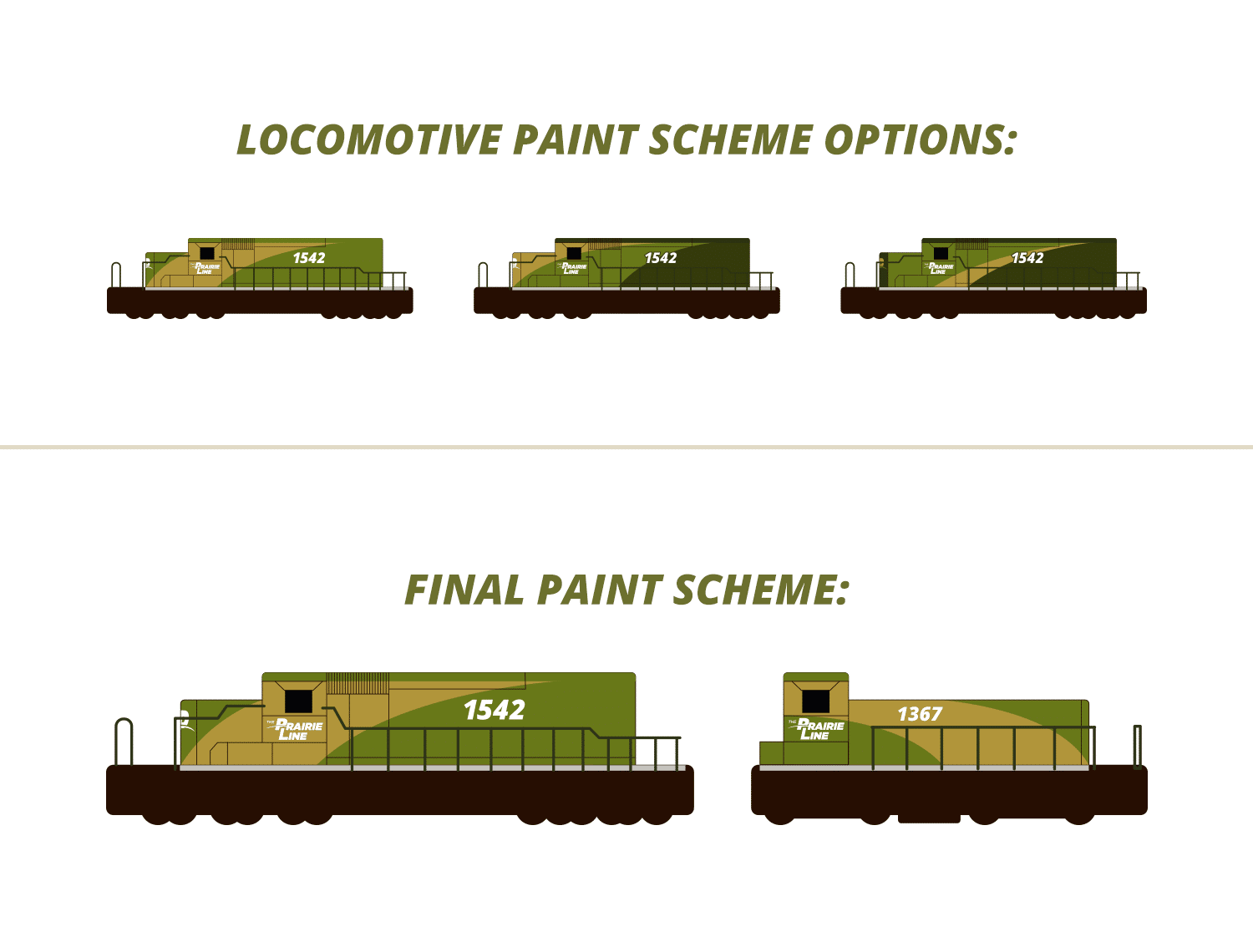 TPL locomotive paint scheme