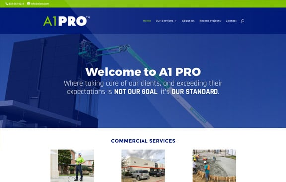 A1PRO website thumbnail