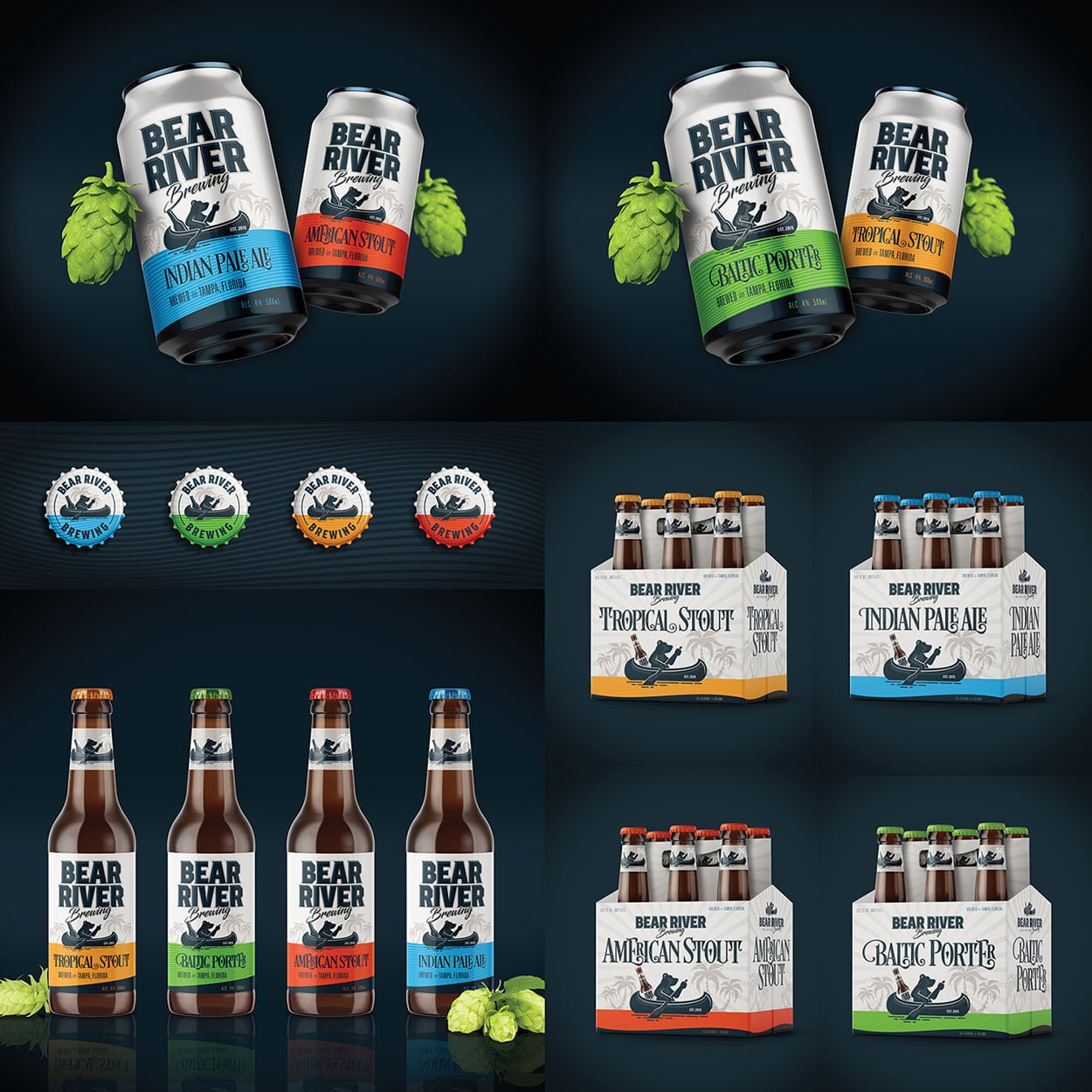 Bear River Brewing Packaging Design