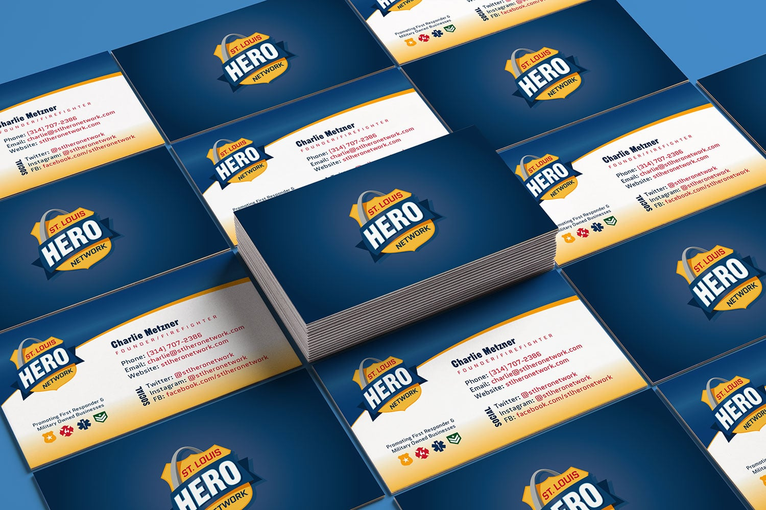 STL Hero Network Business Card