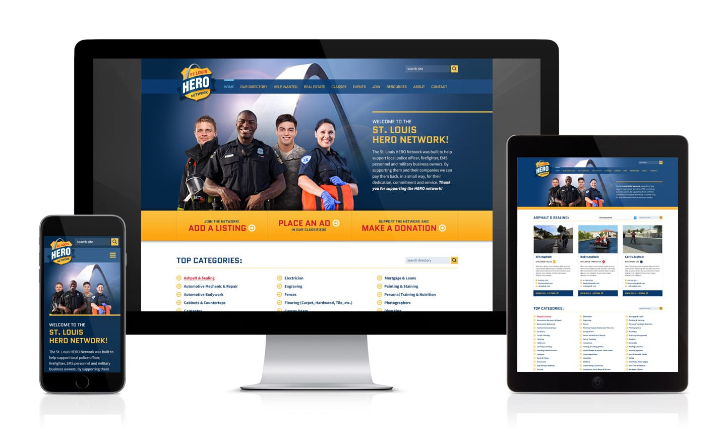 STL Hero Network Responsive Website