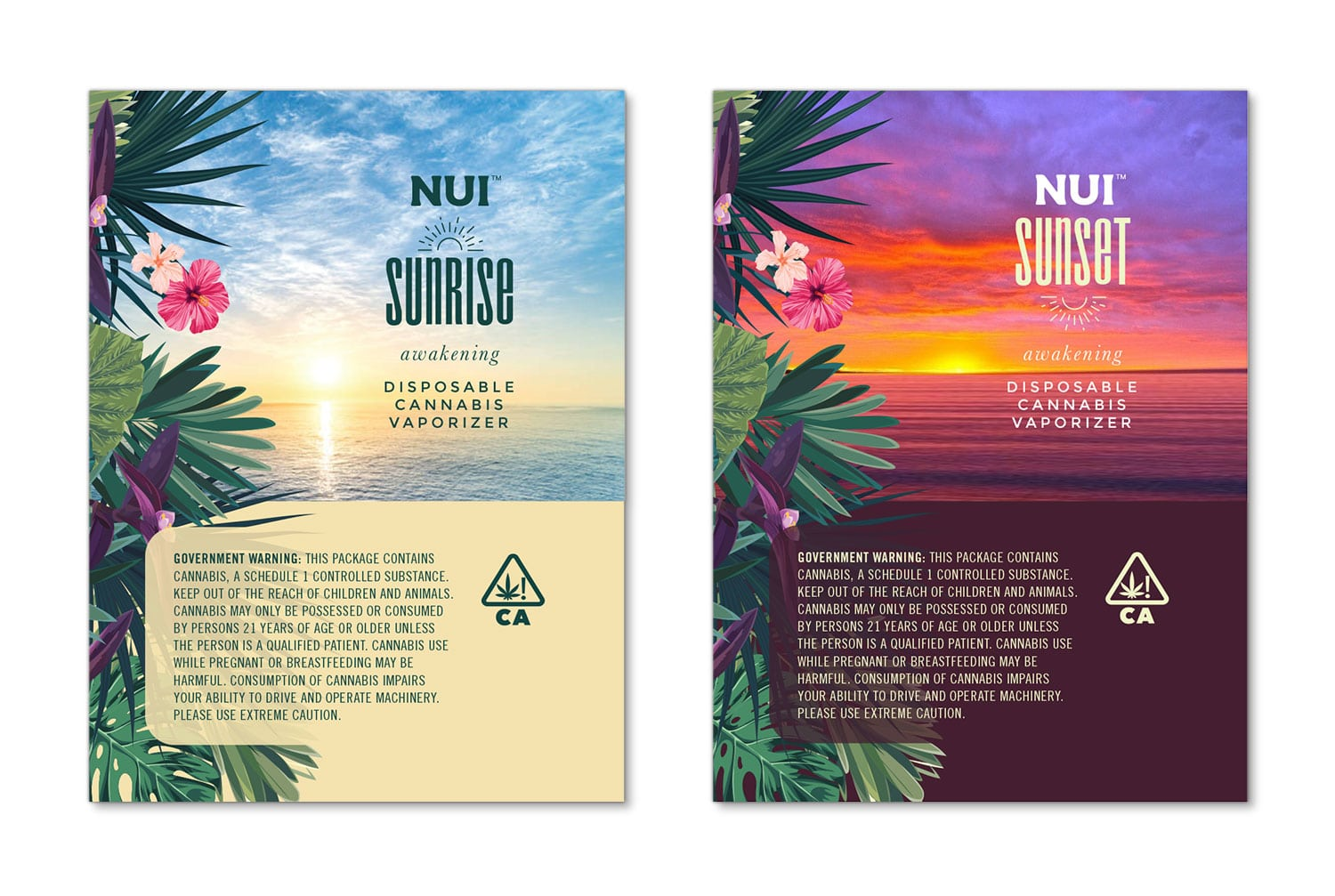 NUI packaging design, full label 1