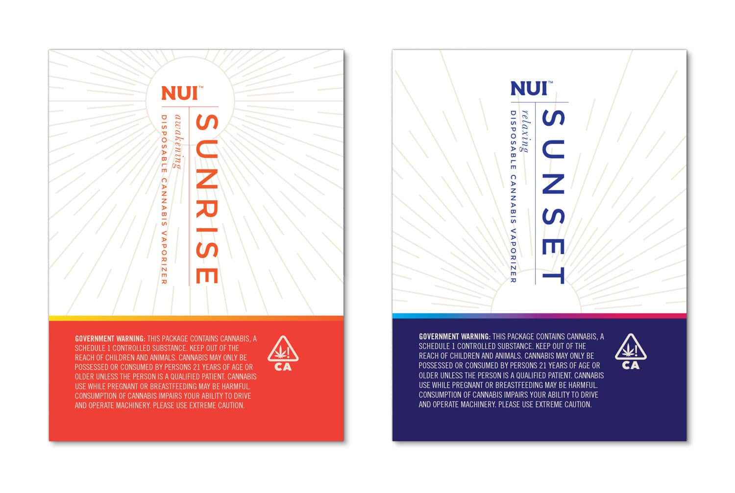 NUI packaging design, full label 2