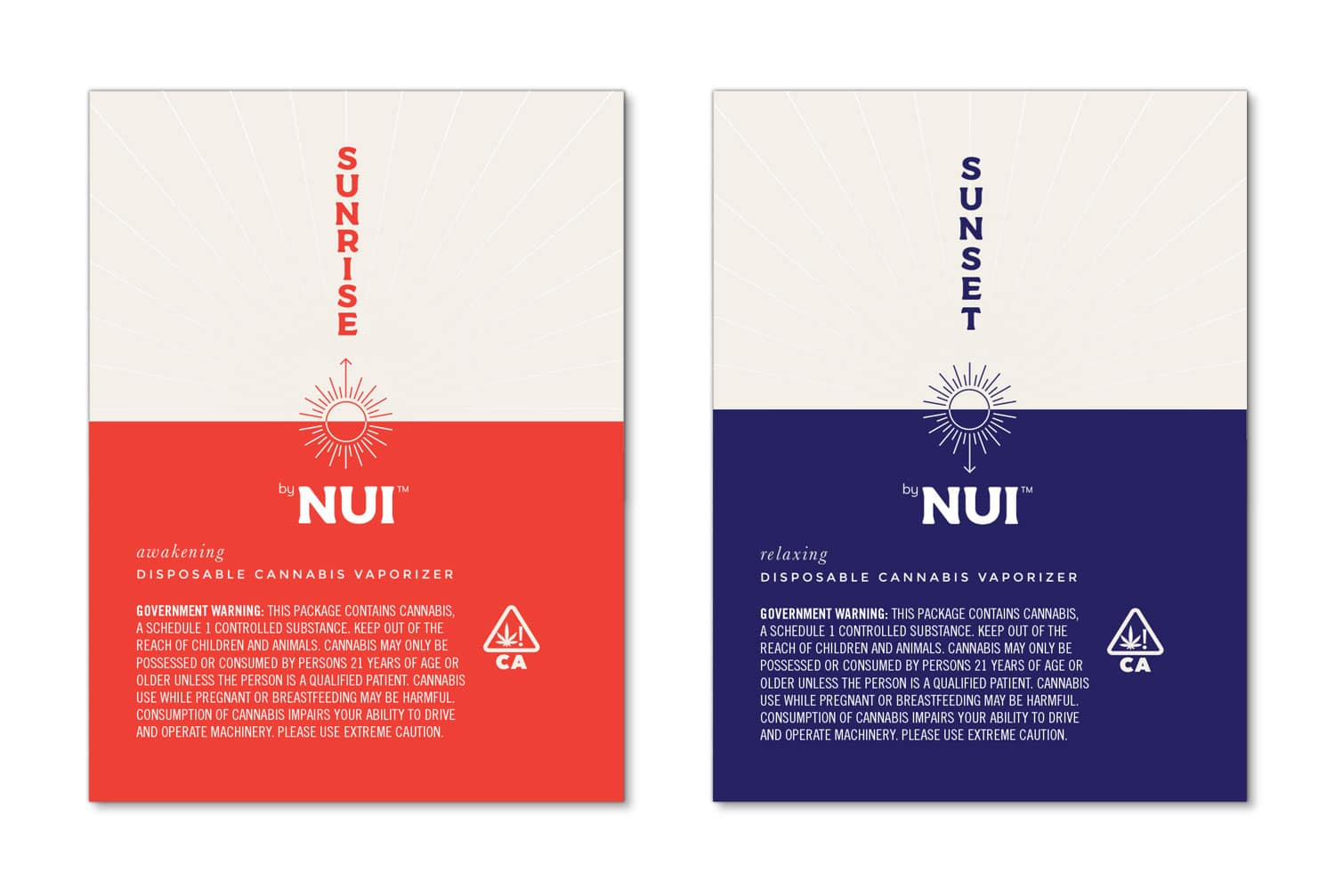 NUI packaging design, full label 3