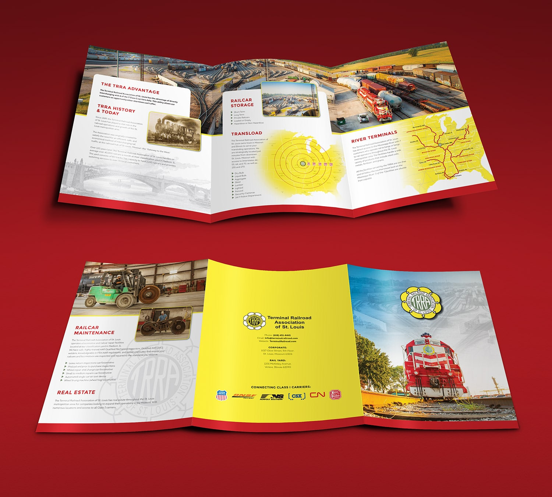 terminal railroad association of st  louis large trifold brochure