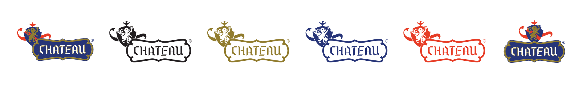 Chateau logo design upgrade lockups