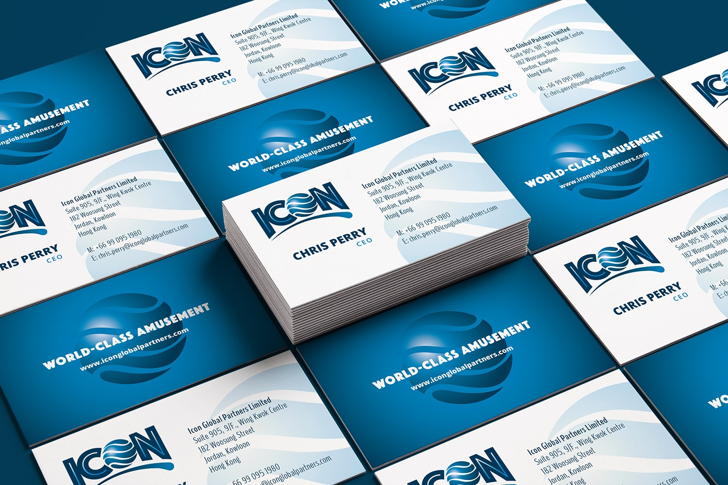 ICON business card design