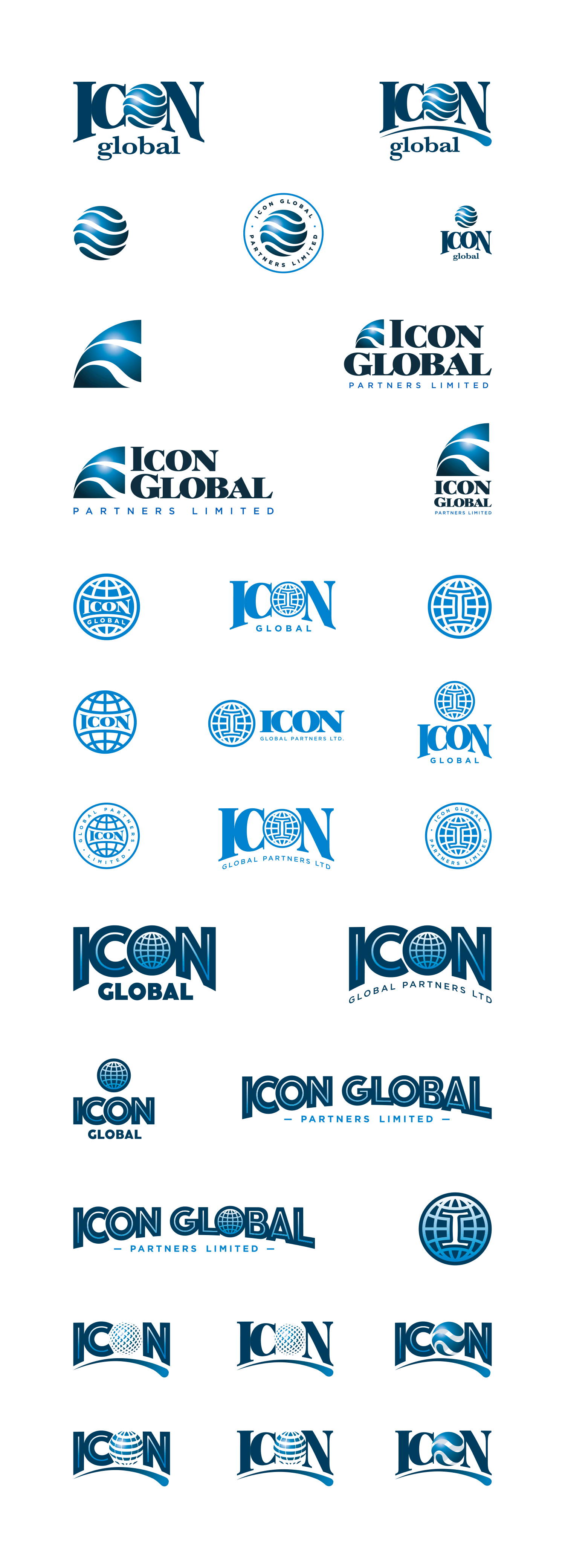 ICON logo explorations