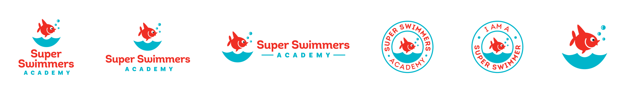 Super Swimmers Logo deliverables
