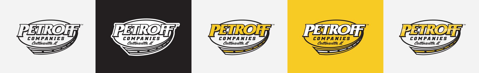 Petroff Companies logo deliverables