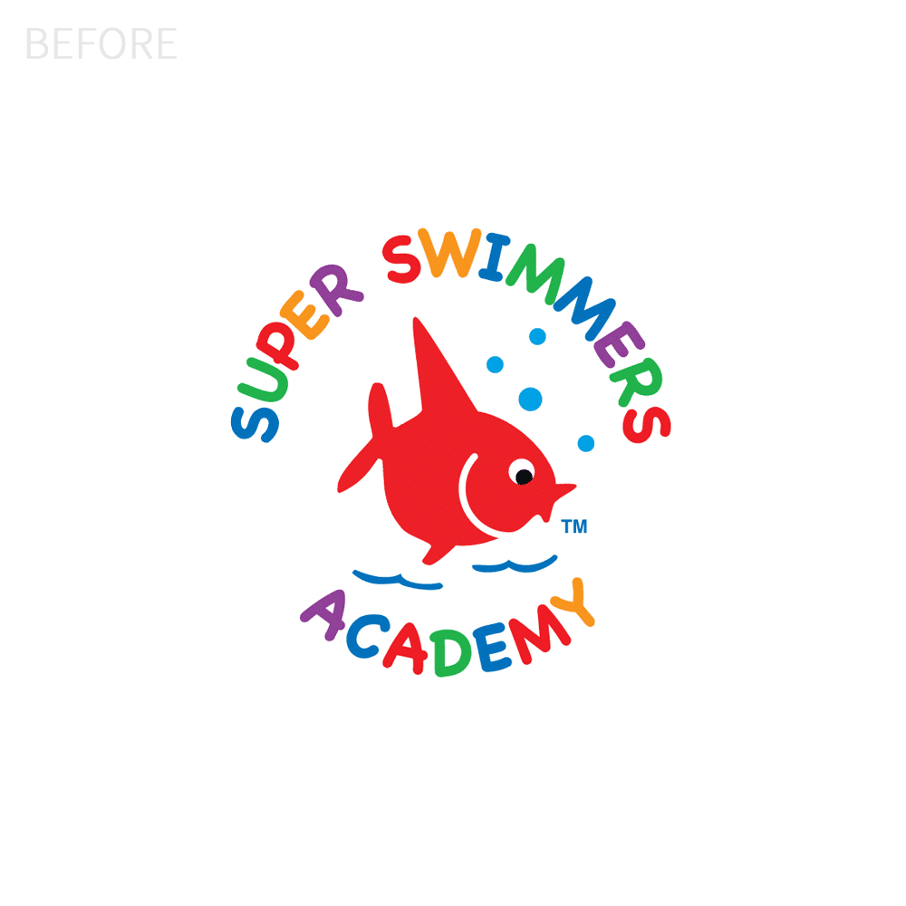 Super Swimmers Logo Before