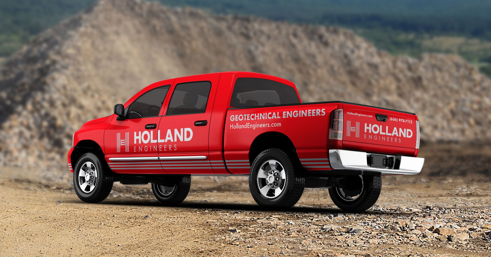 Holland Engineers truck graphics