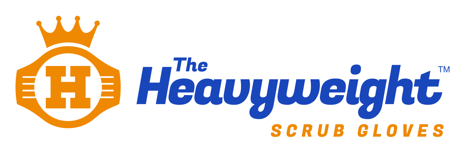 The Heavyweight Scrub Gloves Logo