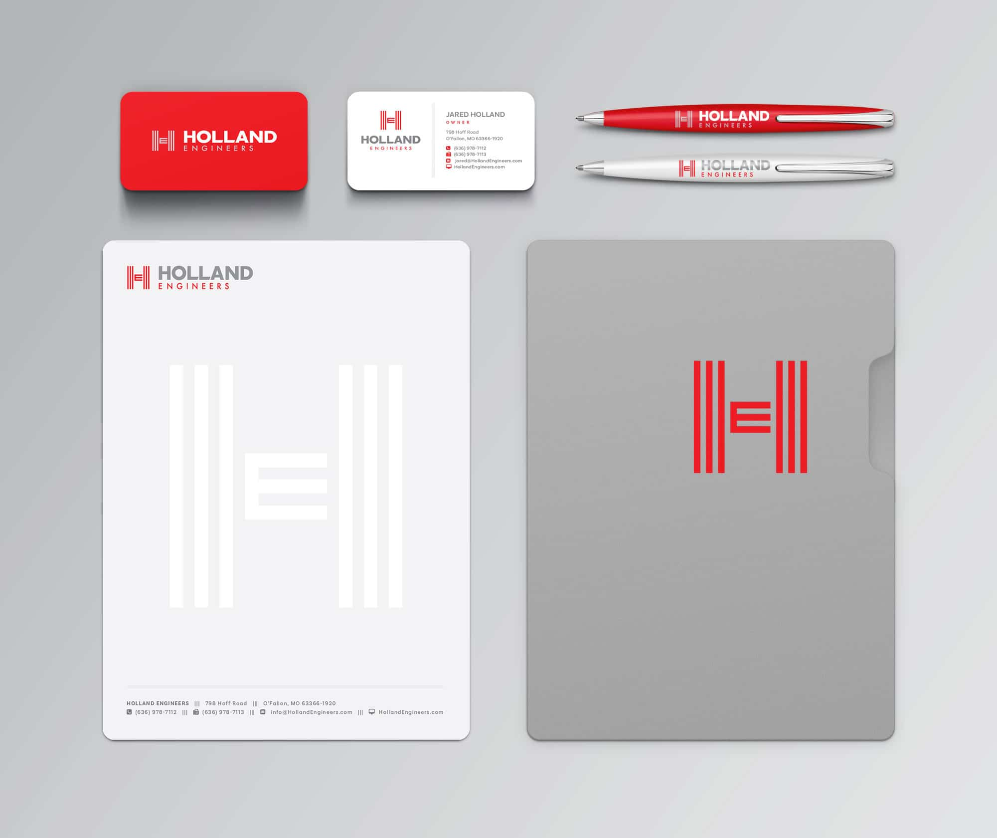 Holland Engineers identity design