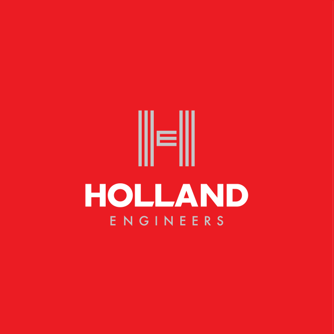 Holland Engineers Logo red BG