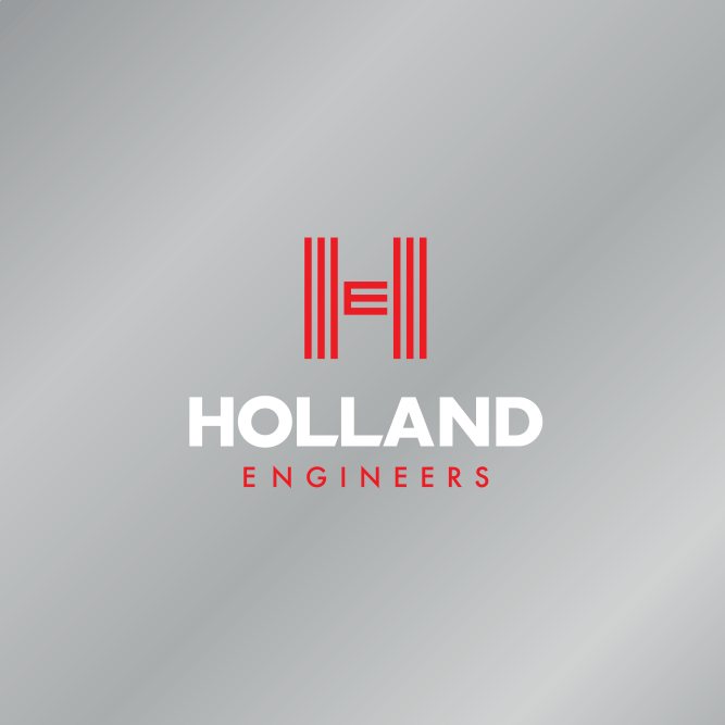 Holland Engineers Logo silver BG