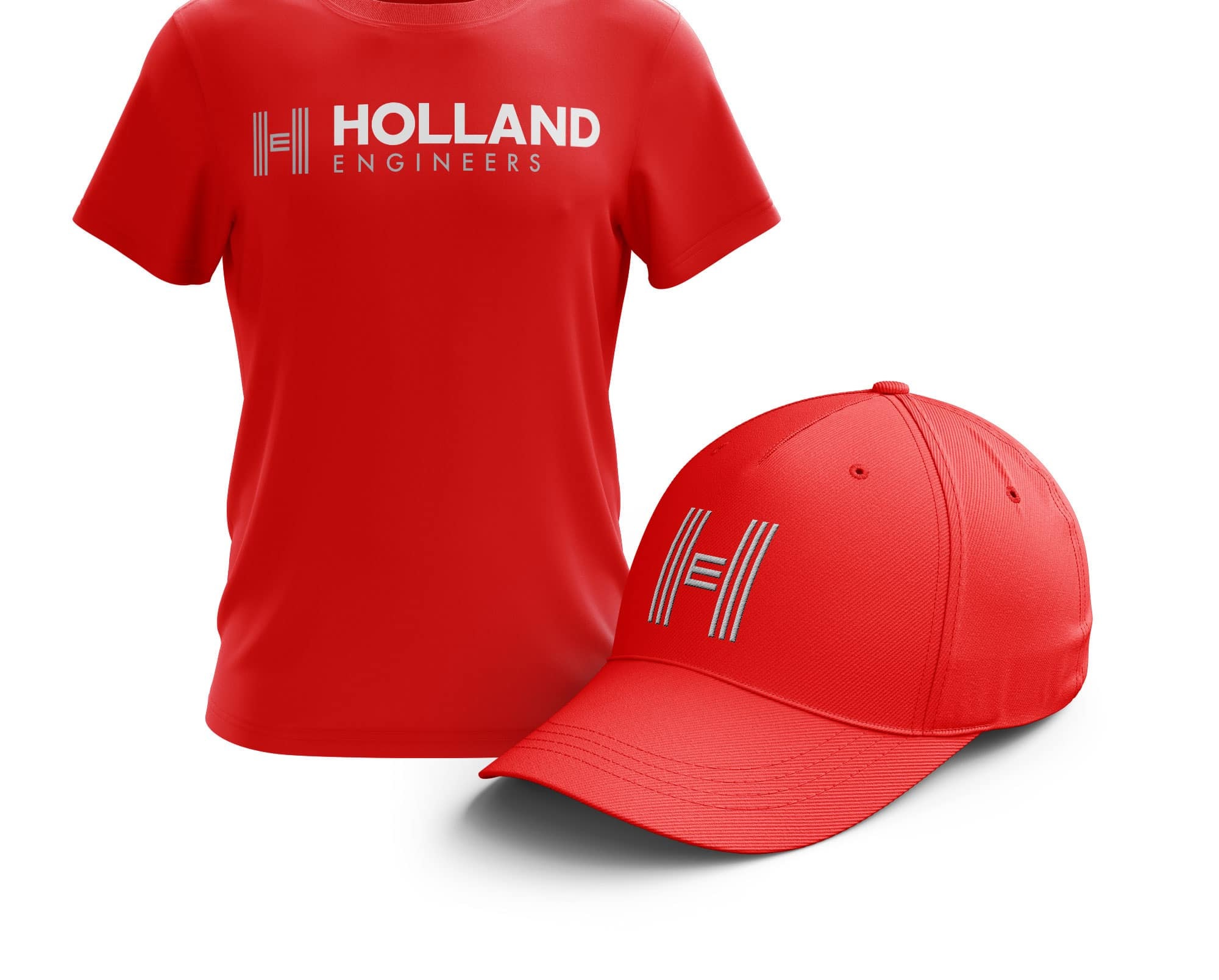 Holland Engineers shirt and hat design