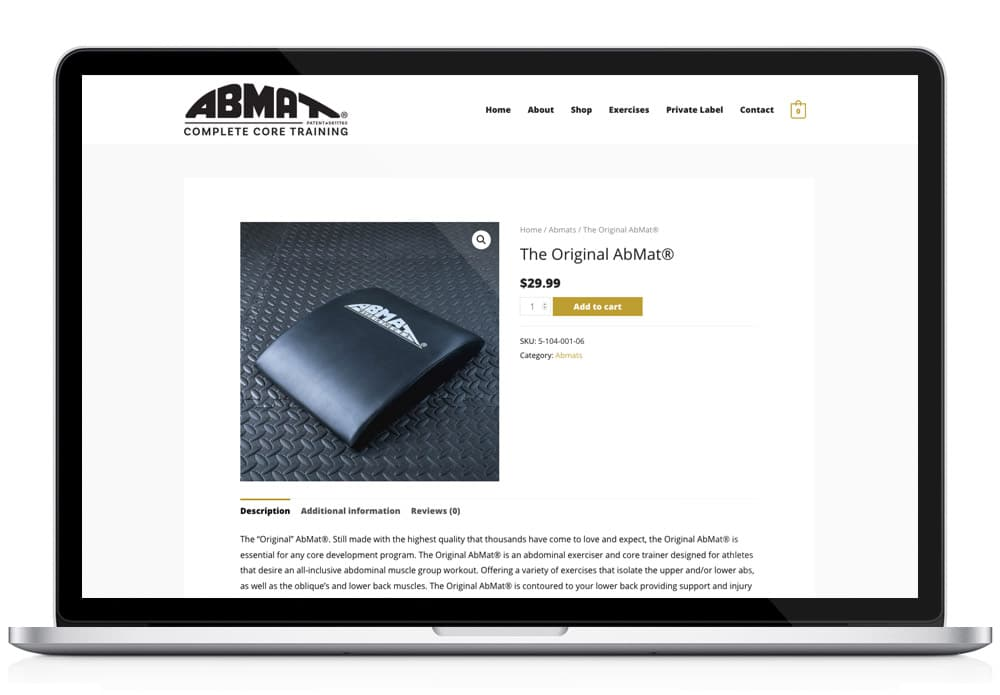 AbMat eCommerce store