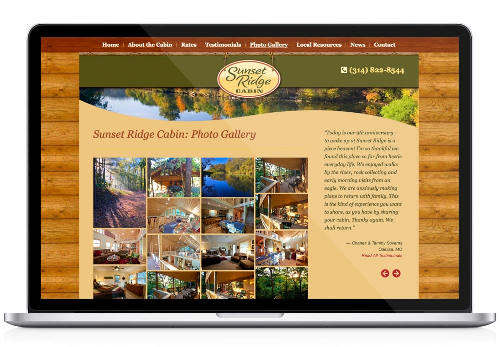Sunset Ridge Cabin Website gallery
