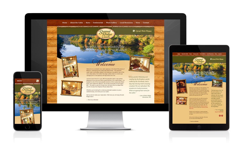 Sunset Ridge Cabin Website