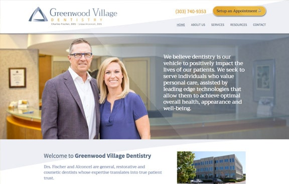 Greenwood Village Dentistry Website