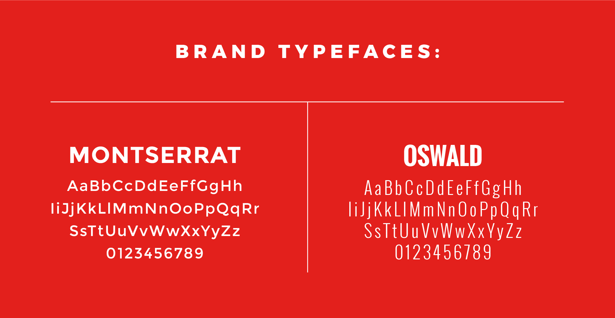 AS brand typefaces
